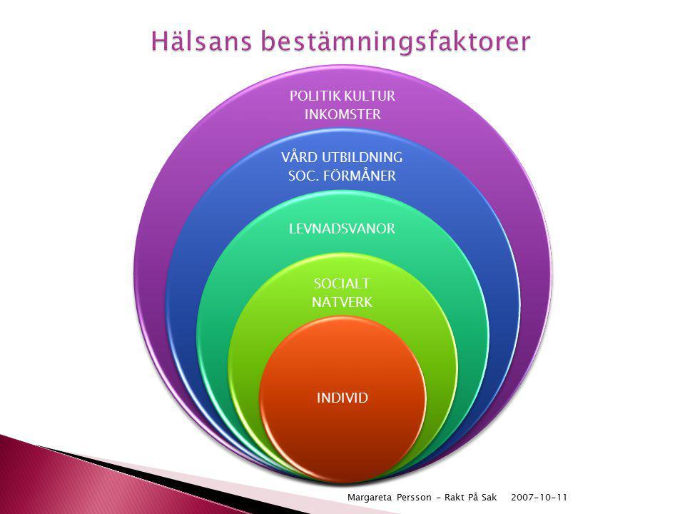 2007-10-11Margareta Persson - Rakt På Sak POLITIK KULTUR INKOMSTER VÅRD UTBILDNING SOC. FÖRMÅNER LEVNADSVANOR SOCIALT NÄTVERK INDIVID