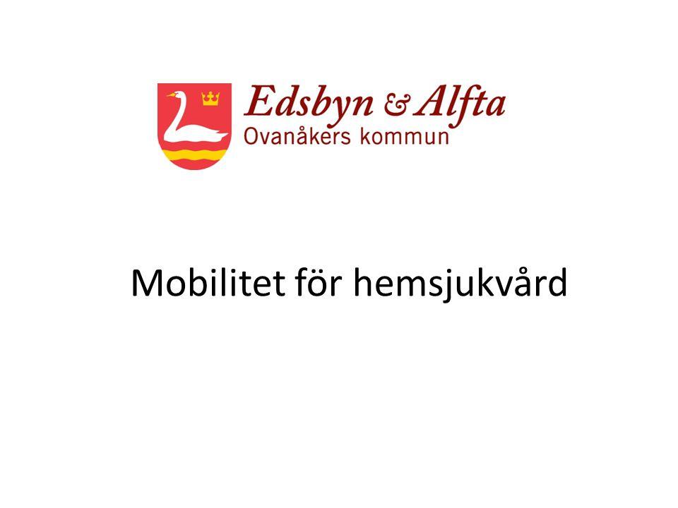 Mobilitet för hemsjukvård