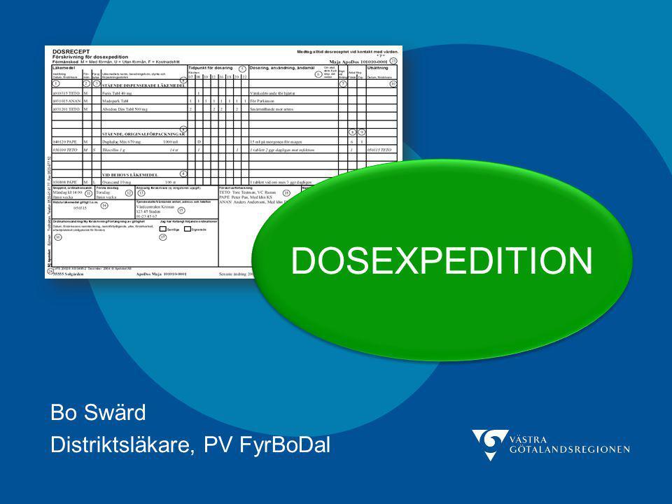 Bo Swärd Distriktsläkare, PV FyrBoDal DOSEXPEDITION