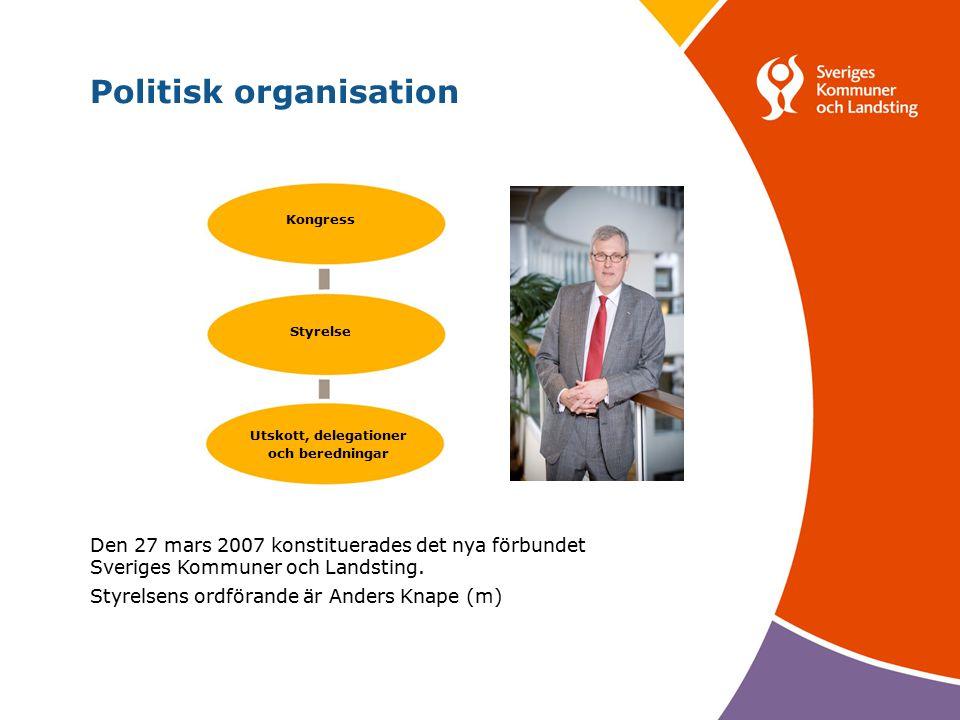 Svenska Kommunförbundet och Landstingsförbundet i samverkan 4 Den 27 mars 2007 konstituerades det nya förbundet Sveriges Kommuner och Landsting.