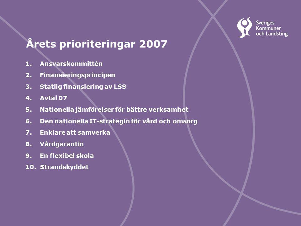 Svenska Kommunförbundet och Landstingsförbundet i samverkan 7 1.