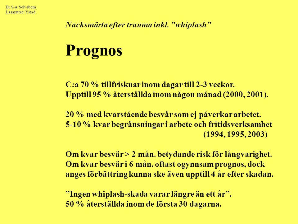 Dr S-A Sölveborn Lasarettet i Ystad Nacksmärta efter trauma inkl.