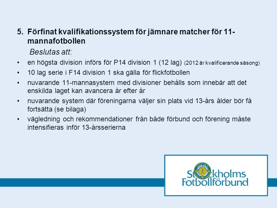 5.Bilaga till (Förfinat kvalifikationssystem för jämnare matcher för 11-mannafotbollen.