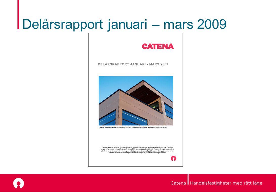 Delårsrapport januari – mars 2009