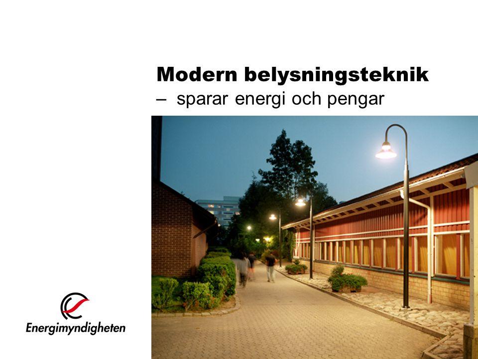 Modern belysningsteknik – sparar energi och pengar