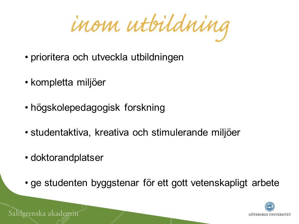 kontaktytor gentemot internationella och svenska samarbetspartners samutnyttja resurser för forskning, utveckling och utbildning sprida akademins forskning internationellt utbyte, fler kurser på engelska, gästande lärare och forskare