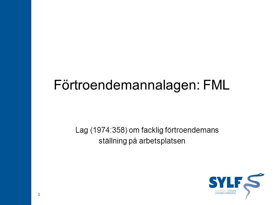 Förtroendemannalagen: FML Lag (1974:358) om facklig förtroendemans ställning på arbetsplatsen 2