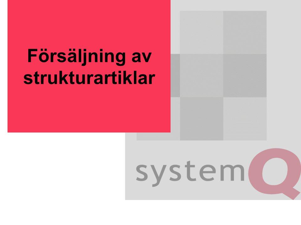 Försäljning av strukturartiklar