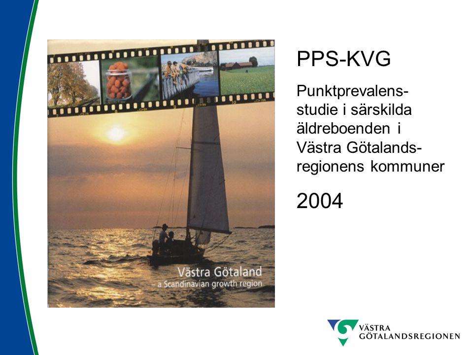PPS-KVG Punktprevalens- studie i särskilda äldreboenden i Västra Götalands- regionens kommuner 2004