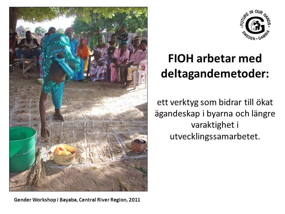 FIOH arbetar med deltagandemetoder: ett verktyg som bidrar till ökat ägandeskap i byarna och längre varaktighet i utvecklingssamarbetet. Gender Worksh