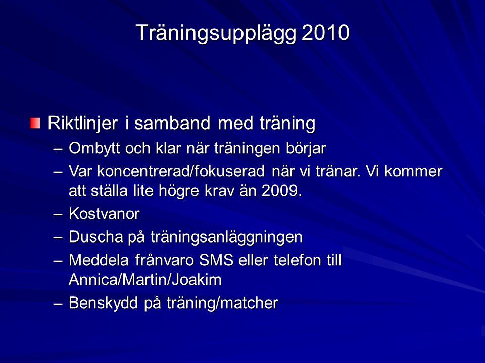 Träningsupplägg 2010 - Fotbollens Hemligheter Fotbolls utbildningsprogram framtaget av IFK Göteborg (Roger Gustafsson).