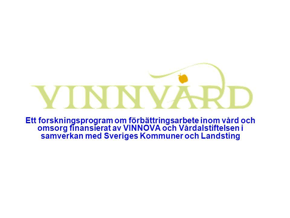 Ett forskningsprogram om förbättringsarbete inom vård och omsorg finansierat av VINNOVA och Vårdalstiftelsen i samverkan med Sveriges Kommuner och Landsting