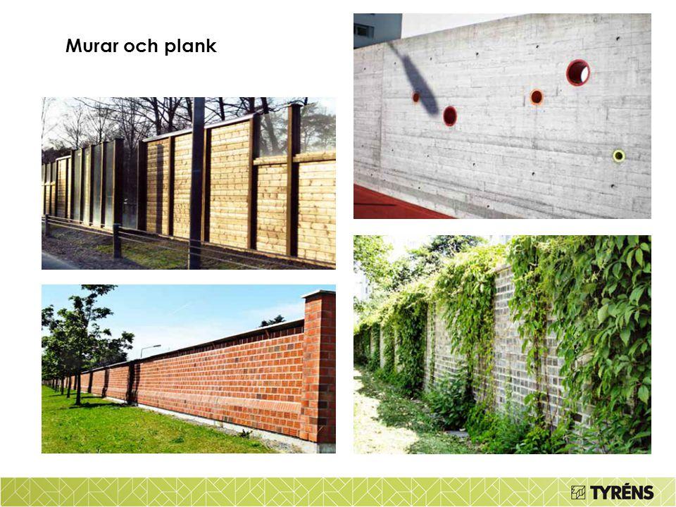 Murar och plank