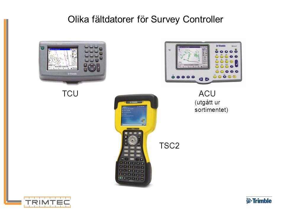 Olika fältdatorer för Survey Controller TCU ACU (utgått ur sortimentet) TSC2