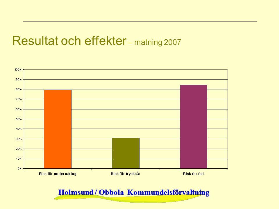 Holmsund / Obbola Kommundelsförvaltning Resultat och effekter – mätning 2007
