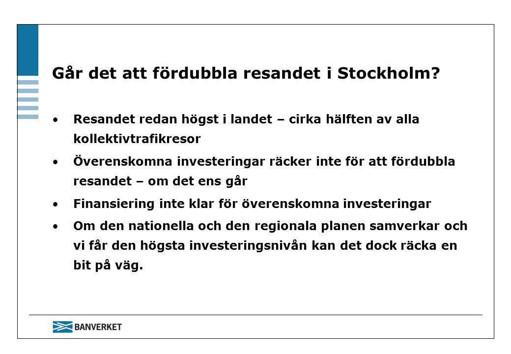 Går det att fördubbla resandet i Stockholm.