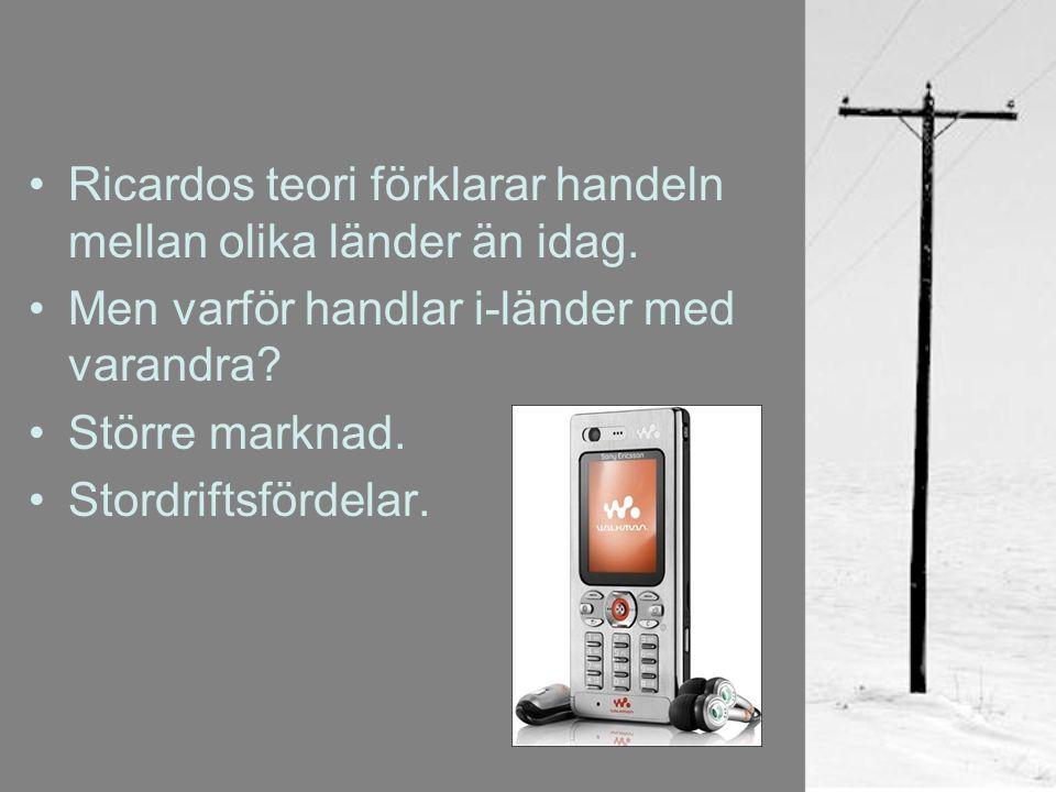 Svensk utrikeshandel.1850 ett av Europas fattigaste länder.