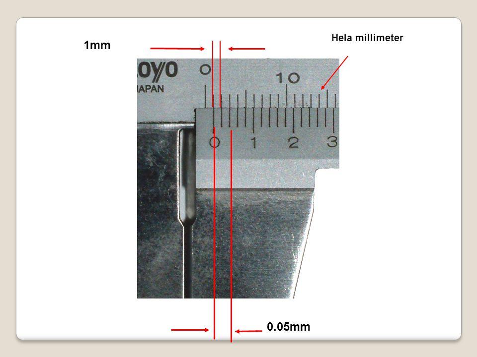 Hela millimeter 0.05mm 1mm