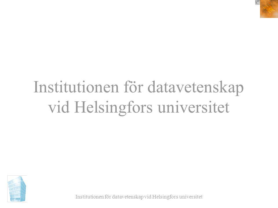 Institutionen för datavetenskap vid Helsingfors universitet