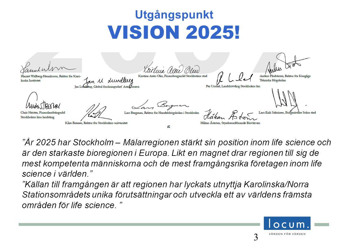 3 Utgångspunkt VISION 2025.
