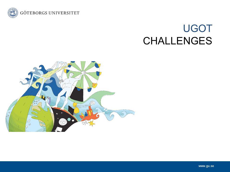 www.gu.se UGOT CHALLENGES Utveckling av processer och verktyg för att underlätta nyttiggörande av den akademiska miljöns kunskapstillgångar.