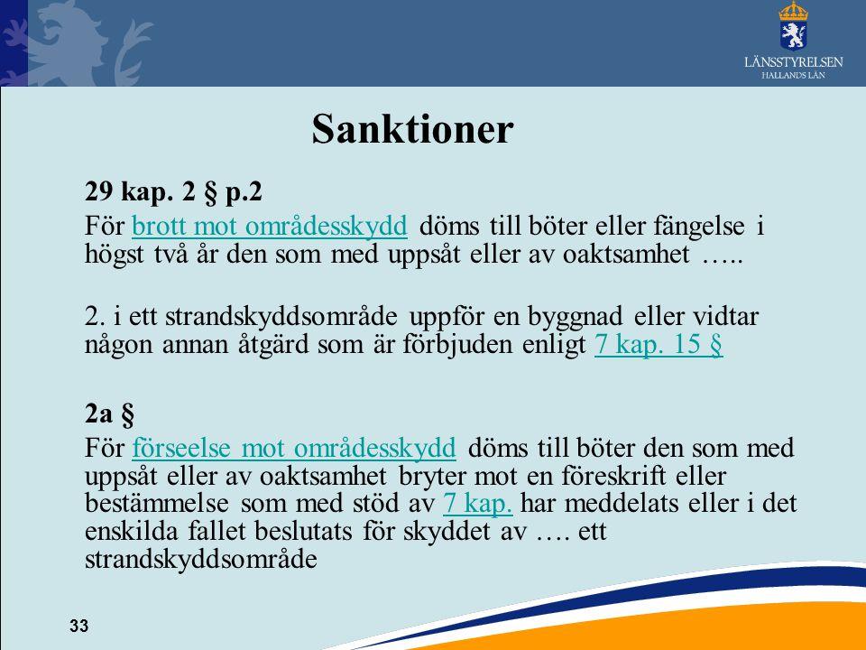 33 Sanktioner 29 kap.