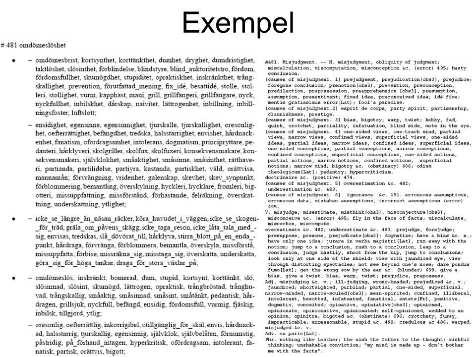 10:e oktober 2003Exjobbsförslag19 Exempel
