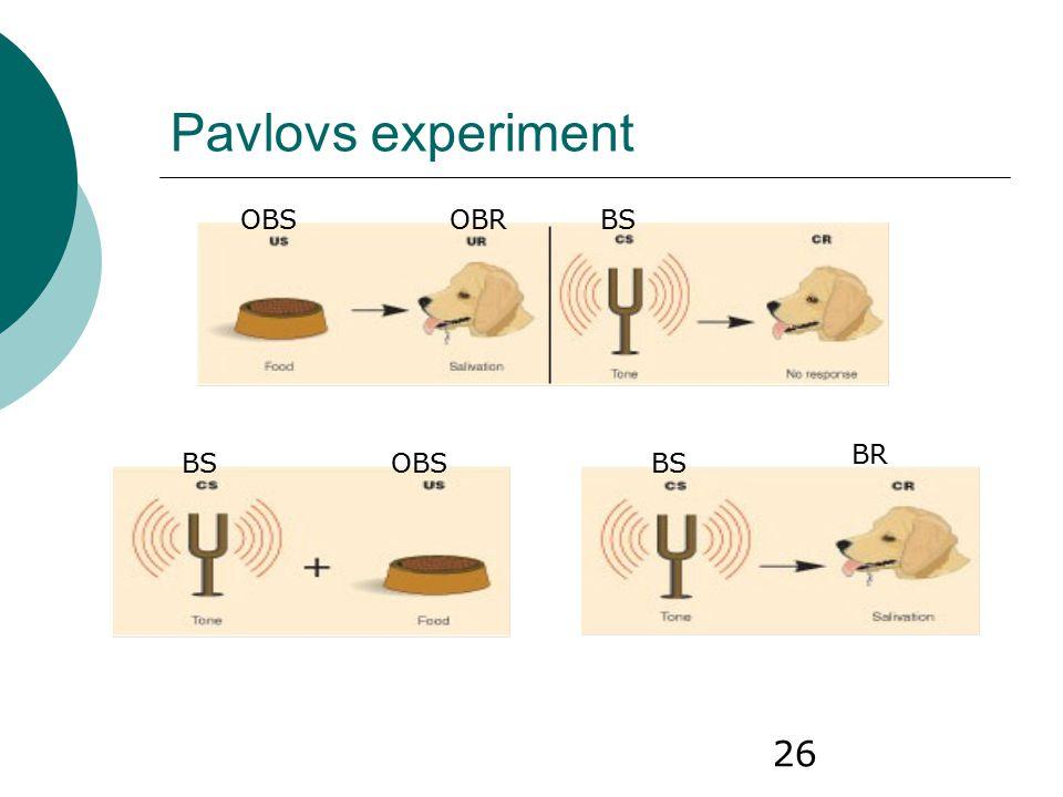 26 Pavlovs experiment OBSOBRBS OBSBS BR