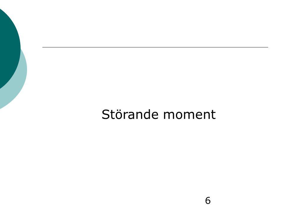 6 Störande moment
