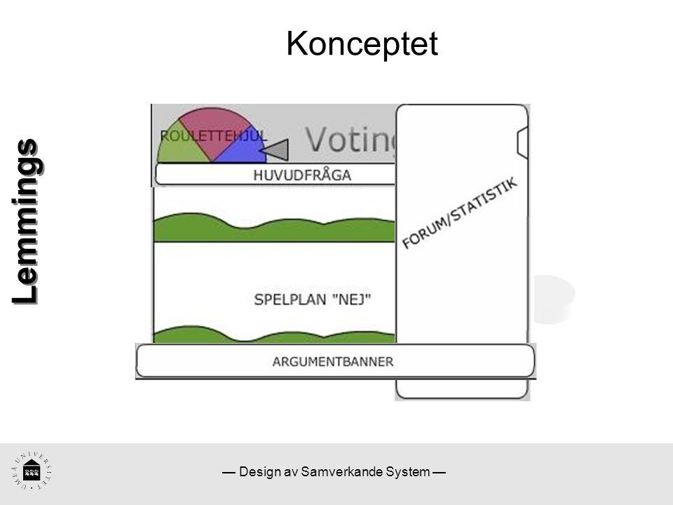 — Design av Samverkande System — Konceptet Lemmings