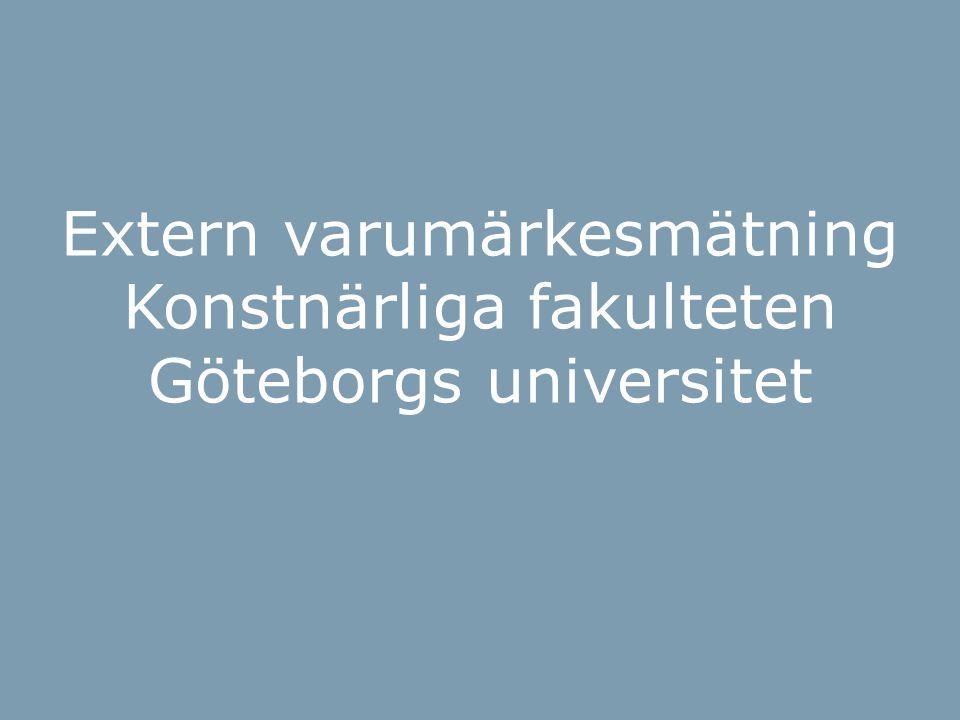 BOI-hjulet Extern varumärkesmätning Konstnärliga fakulteten Göteborgs universitet
