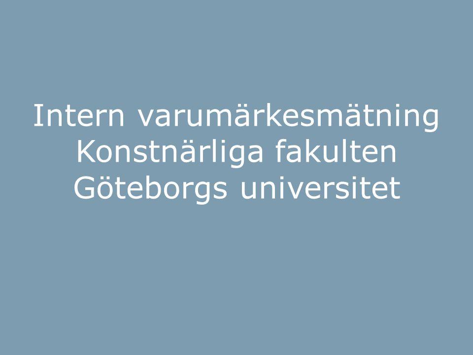 BOI-hjulet Intern varumärkesmätning Konstnärliga fakulten Göteborgs universitet