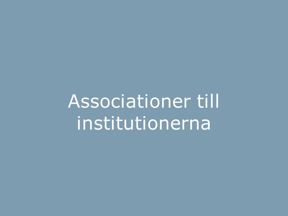 BOI-hjulet Associationer till institutionerna