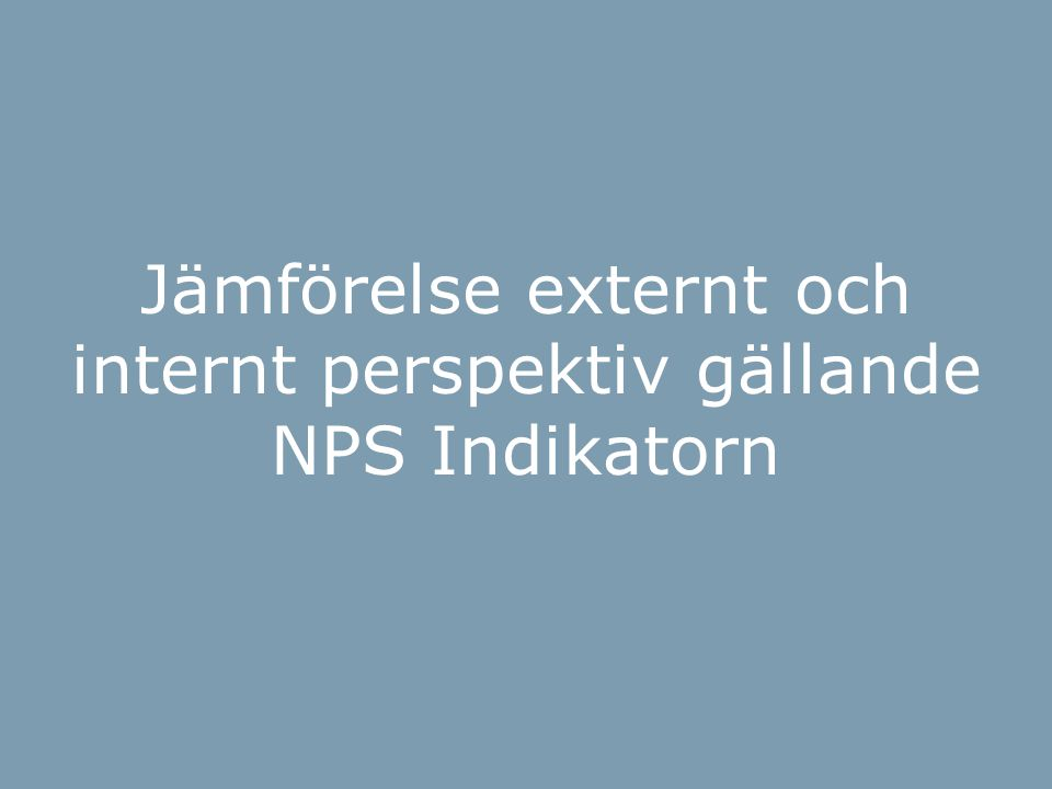 BOI-hjulet Jämförelse externt och internt perspektiv gällande NPS Indikatorn