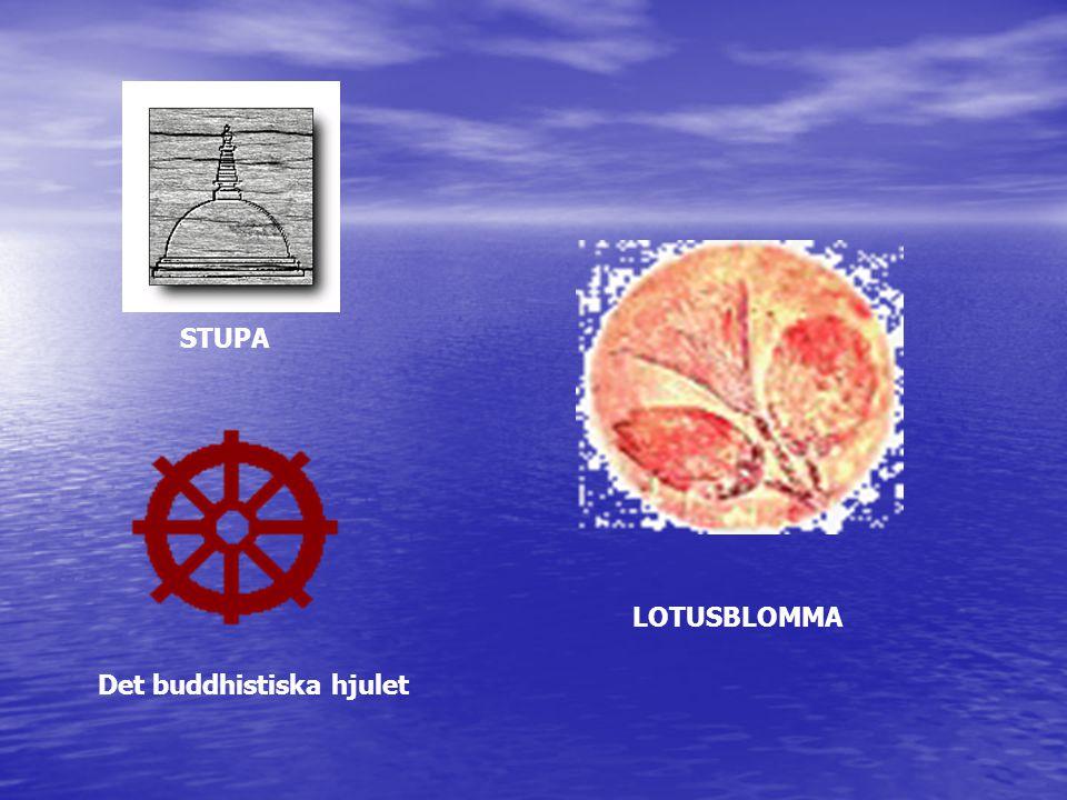 STUPA Det buddhistiska hjulet LOTUSBLOMMA