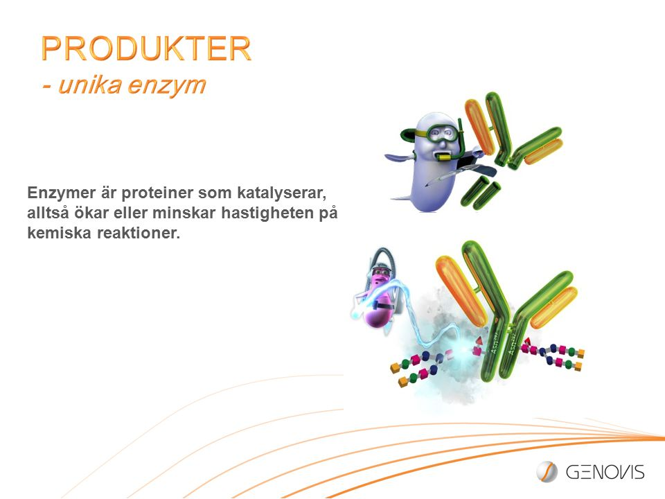 Enzymer är proteiner som katalyserar, alltså ökar eller minskar hastigheten på kemiska reaktioner.
