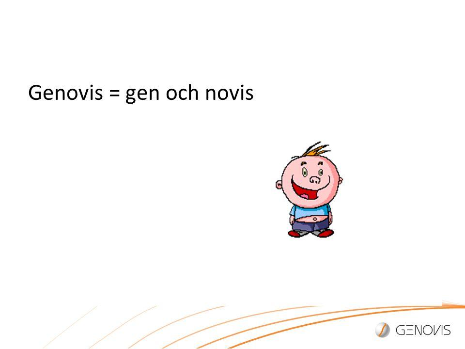 Genovis = gen och novis