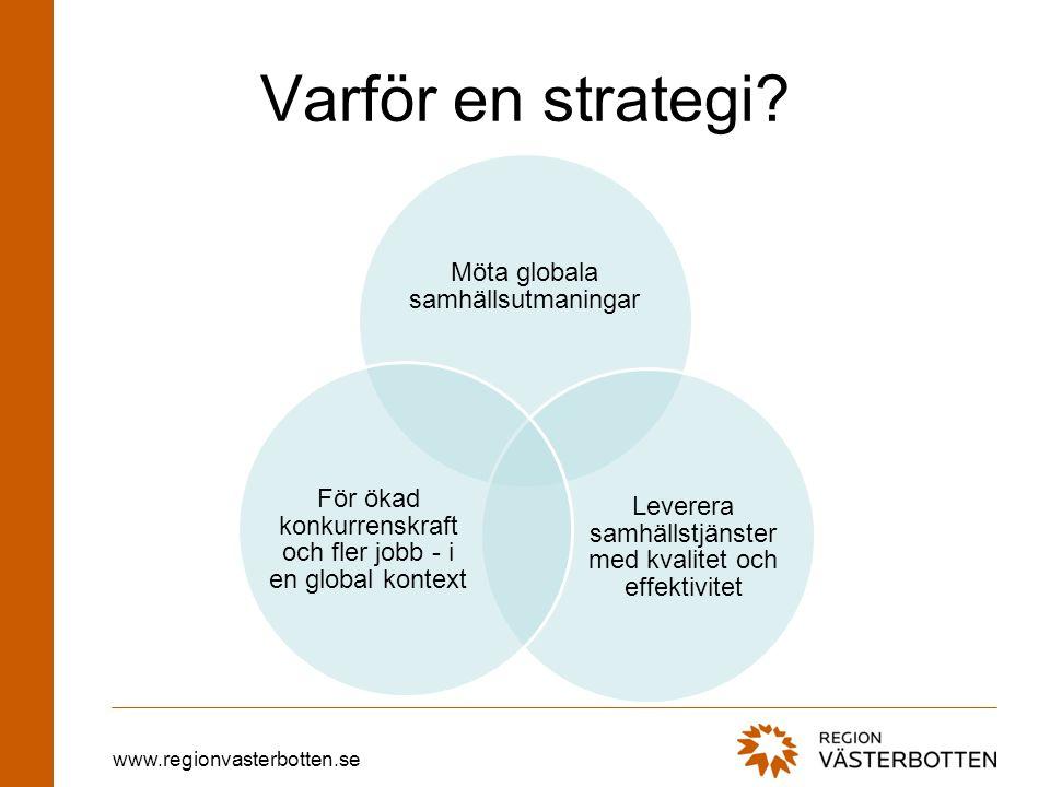 www.regionvasterbotten.se Varför en strategi?
