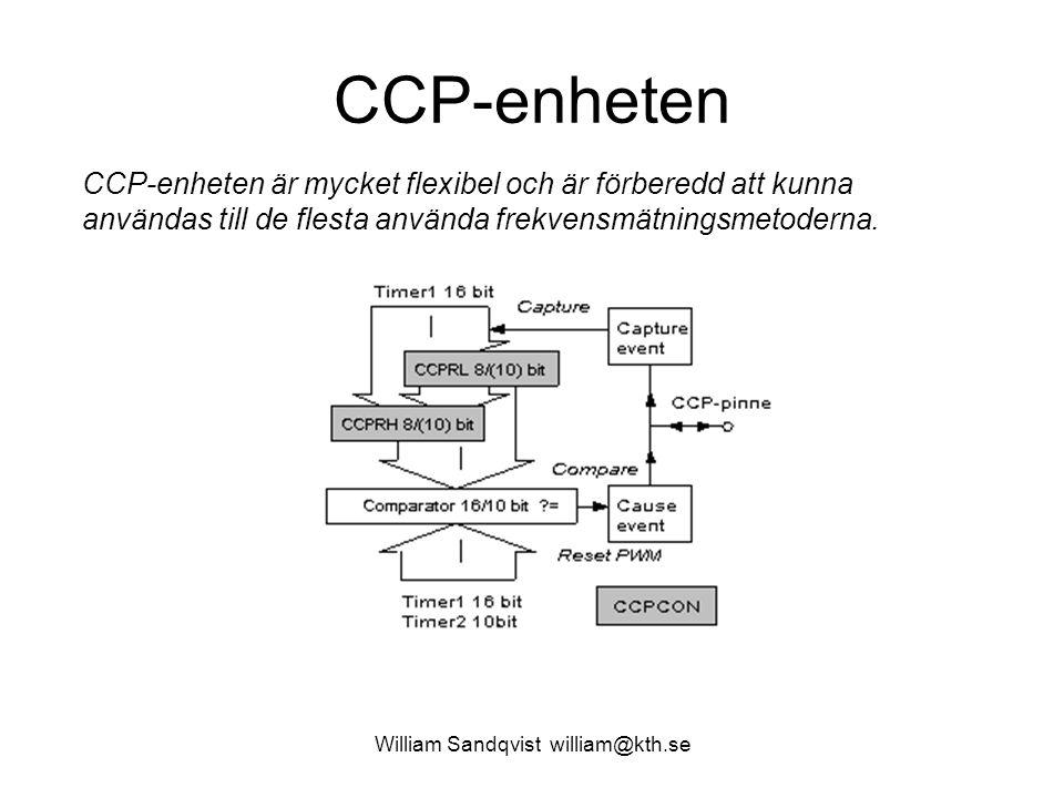 William Sandqvist william@kth.se CCP-enheten CCP-enheten är mycket flexibel och är förberedd att kunna användas till de flesta använda frekvensmätningsmetoderna.