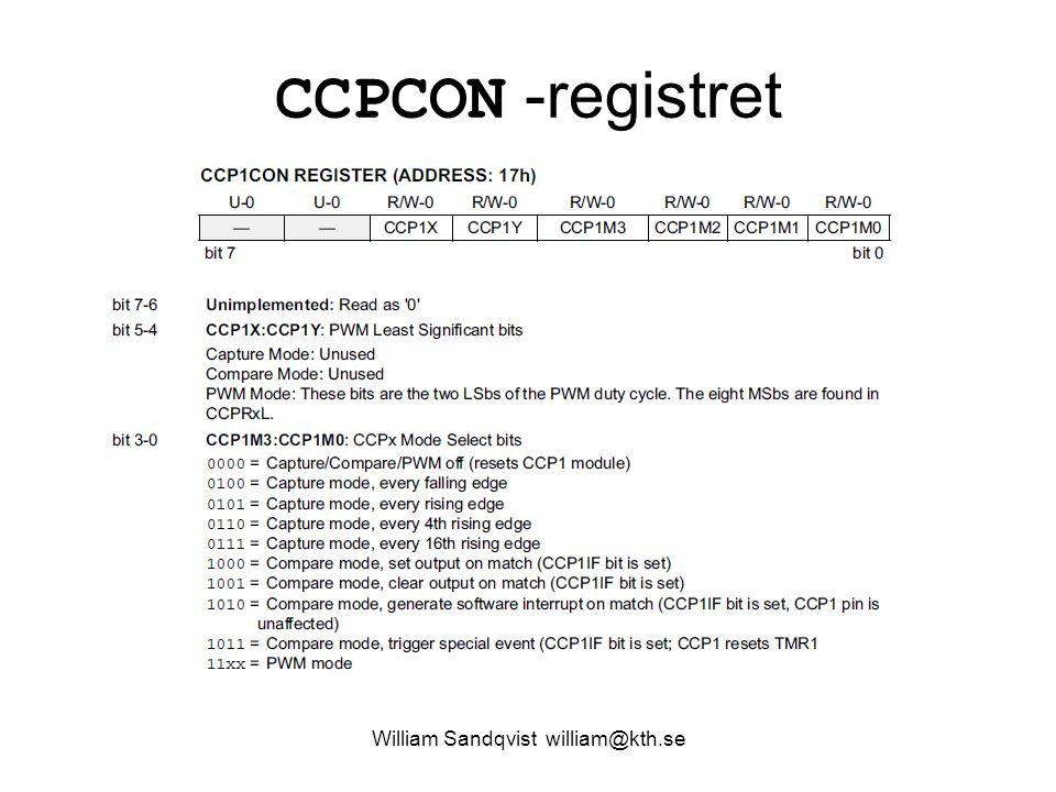 William Sandqvist william@kth.se CCPCON -registret