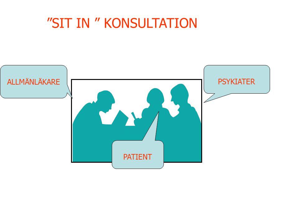 """PSYKIATER PATIENT ALLMÄNLÄKARE """"SIT IN """" KONSULTATION"""