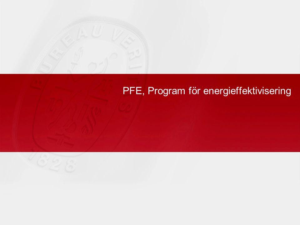 PFE, Program för energieffektivisering