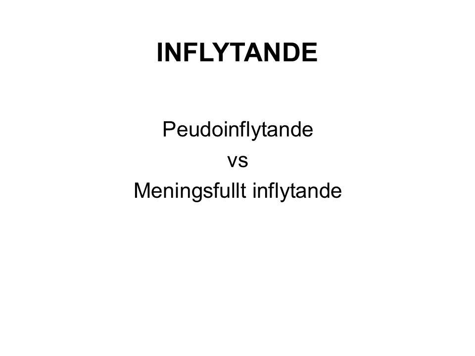 INFLYTANDE Peudoinflytande vs Meningsfullt inflytande