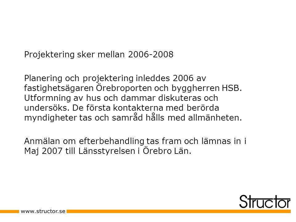 Projektering sker mellan 2006-2008 Planering och projektering inleddes 2006 av fastighetsägaren Örebroporten och byggherren HSB.