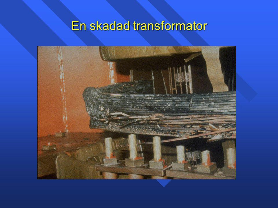 En skadad transformator