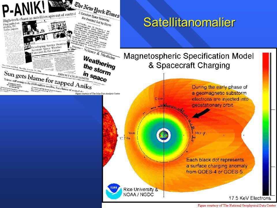 Satellitproblem den 14-16 juli, 2000 Proton event orsakade problem för ACE, SOHO, Ørsted, Japansk X-ray satellit, star trackers ombord kommersiella satelliter.