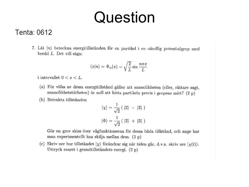 Question Tenta: 0612
