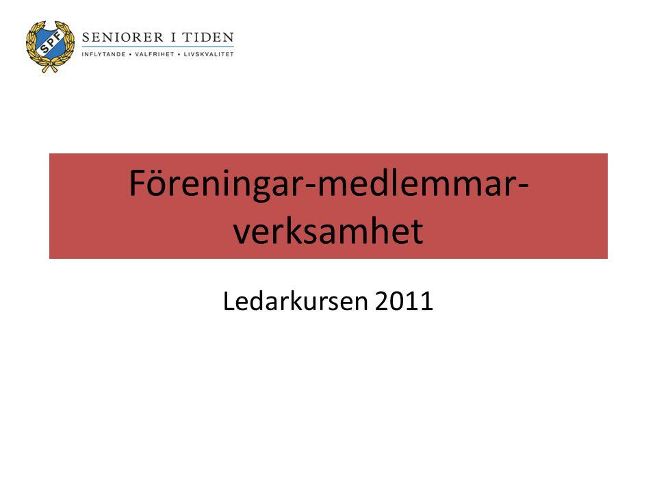 Föreningar-medlemmar- verksamhet Ledarkursen 2011