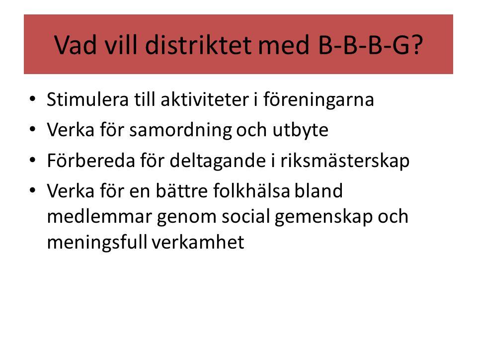 Vad vill distriktet med B-B-B-G.