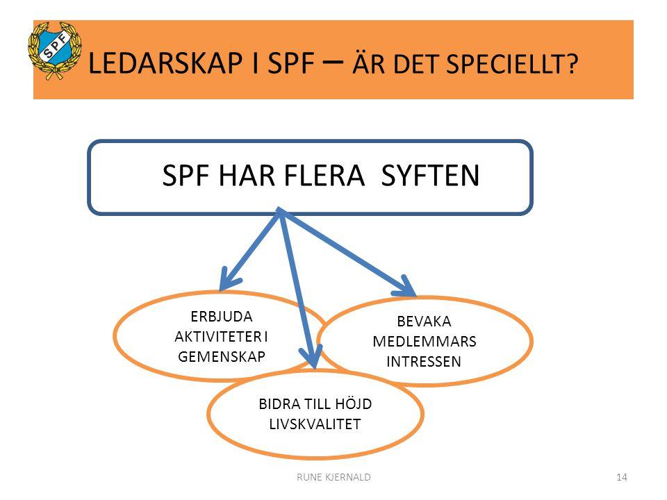LEDARSKAP I SPF – ÄR DET SPECIELLT.